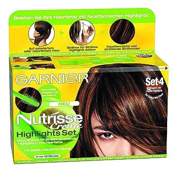 Garnier Nutrisse Creme Highlights Set Strähnchen 4 Braun