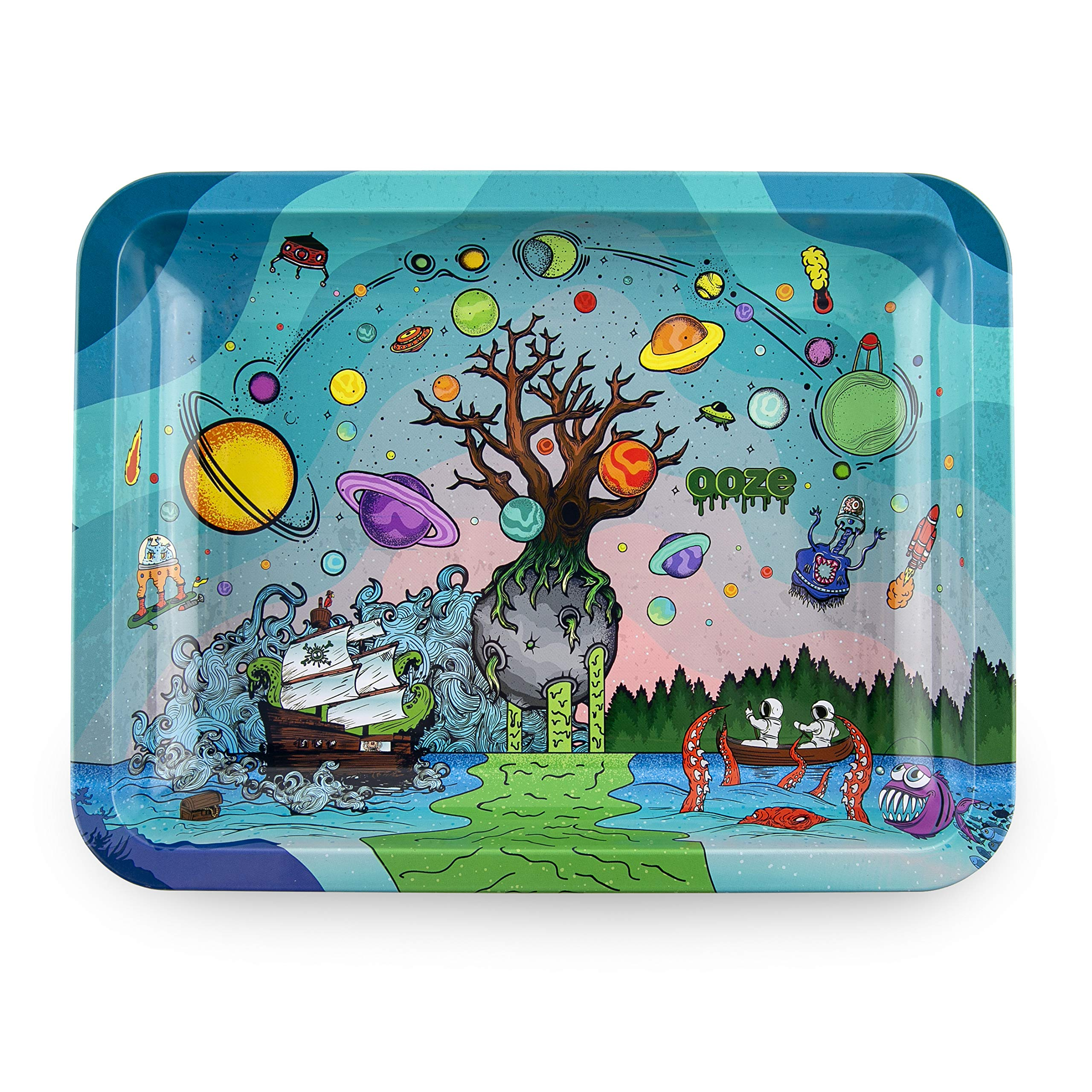 Ooze - Metal Rolling Tray - Tree of Life - (Medium) by Ooze