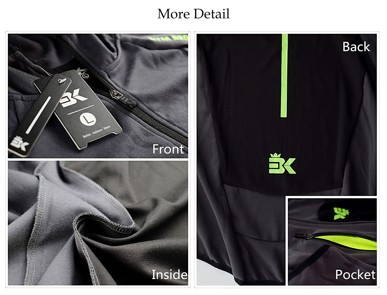 16d423af8127bb Broki Herren Gym Zip Jacke Kapuze Hoodie Sweatshirt Kapuzenpullover   Amazon.de  Bekleidung