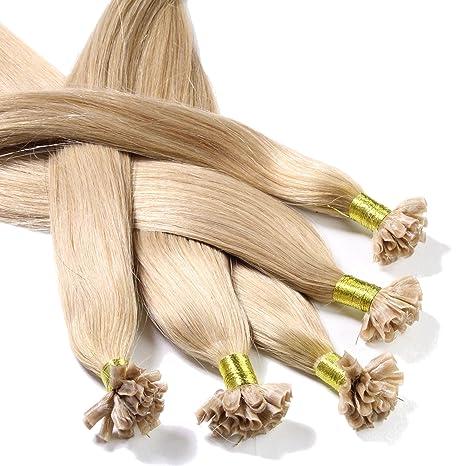 Just Beautiful Hair U-tip Mechones Cabello Auténtico Remy India con Uniones Queratina 40cm -