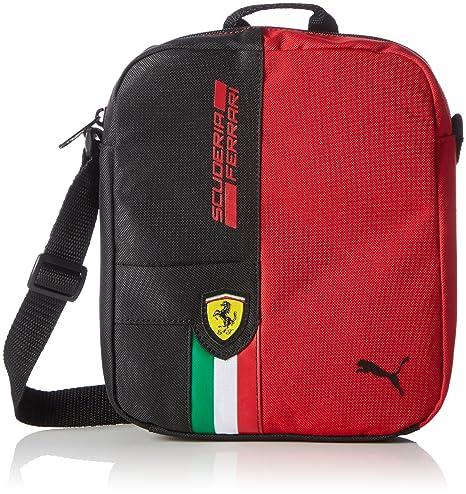 5c0ef389dd Puma Umhängetasche Ferrari Fanwear Portable, Borsa a Tracolla Unisex, Rosso  Corsa Black, Taglia