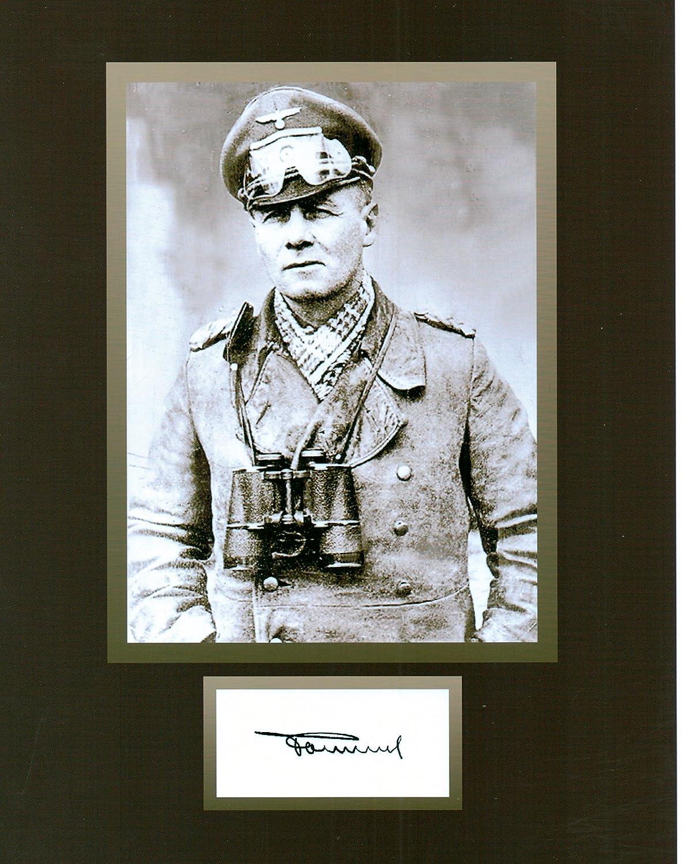 Kirkland General Erwin Rommel WWII Hero 8 X 10 Autograph Photo on Glossy Photo Paper