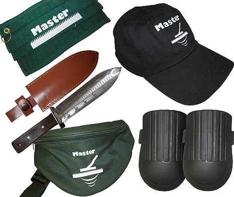 Bundle Paquete de detectores de Metales Incluye Cuchillo Hori Hori, Paquete de pañuelos, Gorra