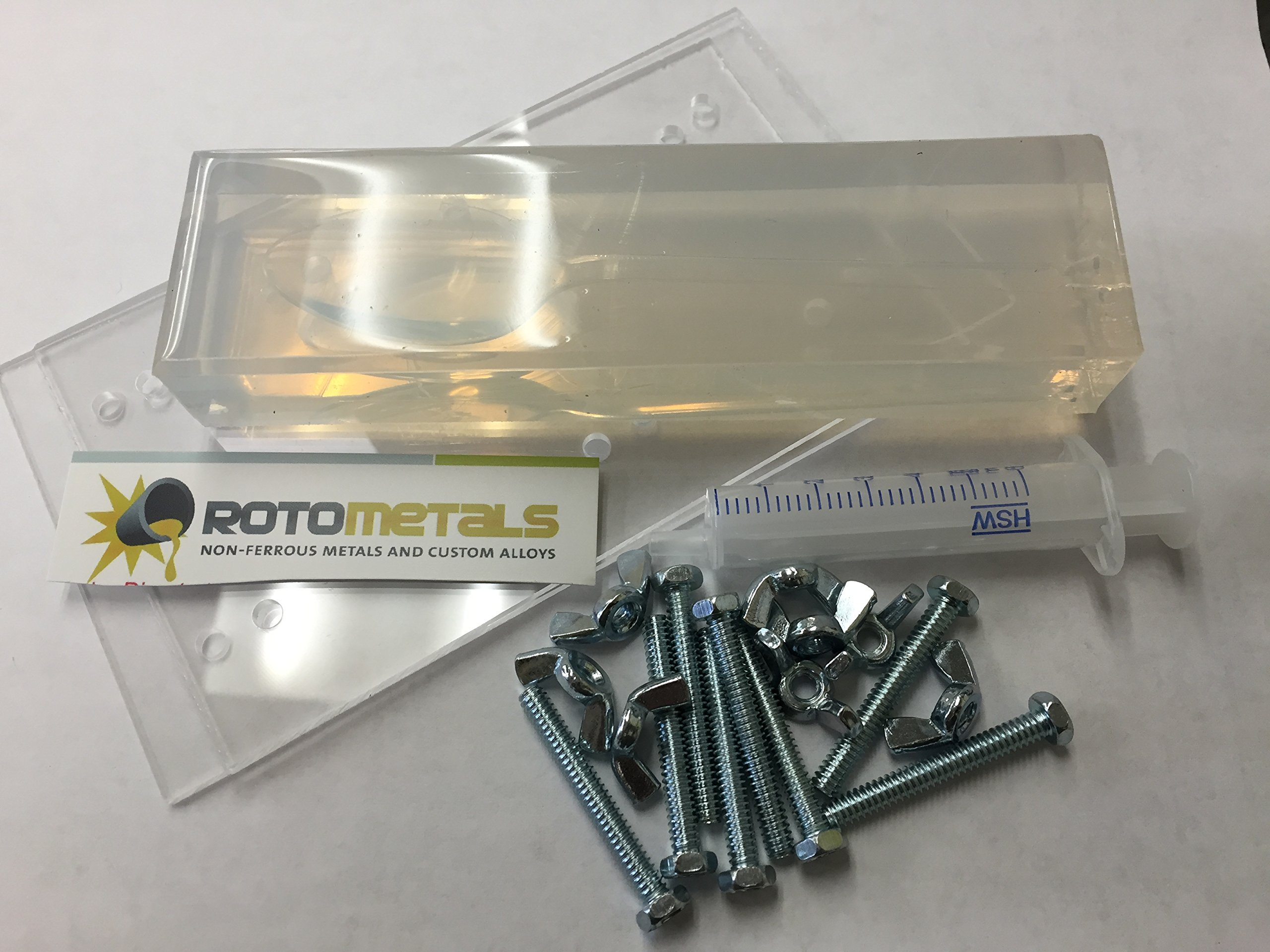 RotoMetals Gallium Spoon Mold-Create a Magic Disappearing/Bending/Melting Gallium Spoon, Includes Syringe by Roto Metals