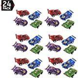 """24 Piece 2.5"""" Party Pack Assorted Pull Back Racing Cars. - Fun Gift Party Giveaway"""