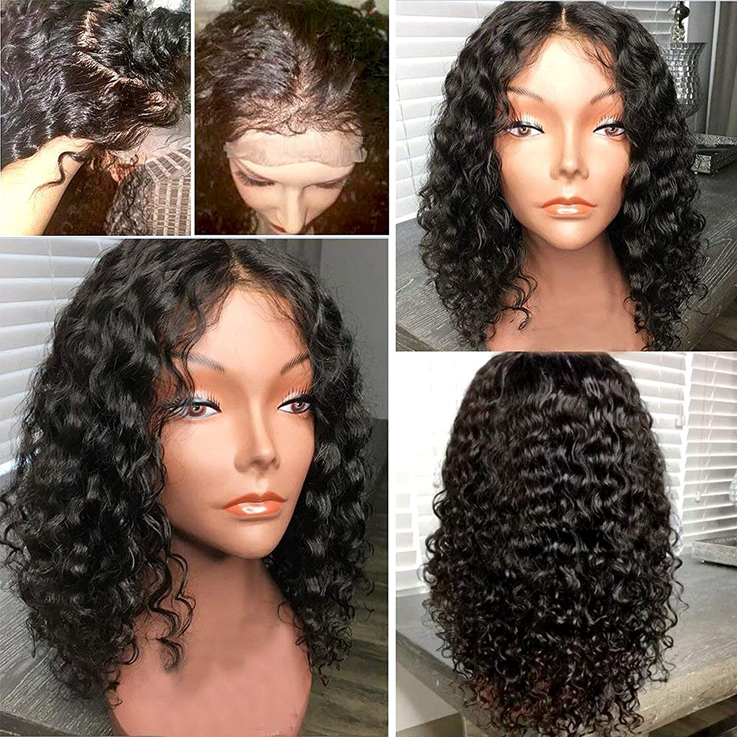 Lace Front Human Hair Wig with Baby Hair