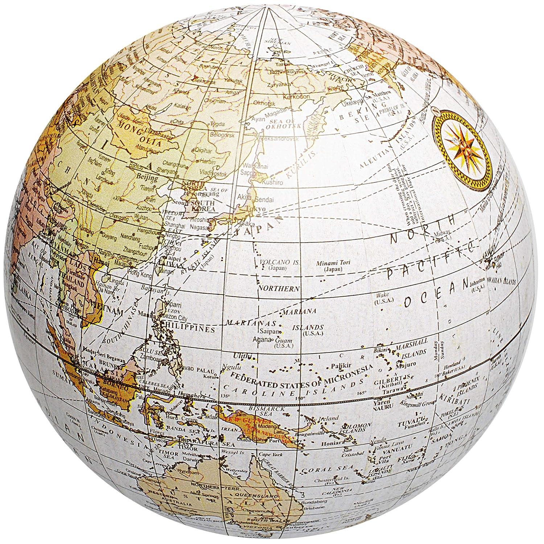Dekoration Welt Farbmix Ball // Deko Kugel inkl Name Globus 11 cm Geldgeschenk f/ür Kinder und Erwachsene Hochzeit // lustiger .. alles-meine.de GmbH 3 St/ück /_ Erde
