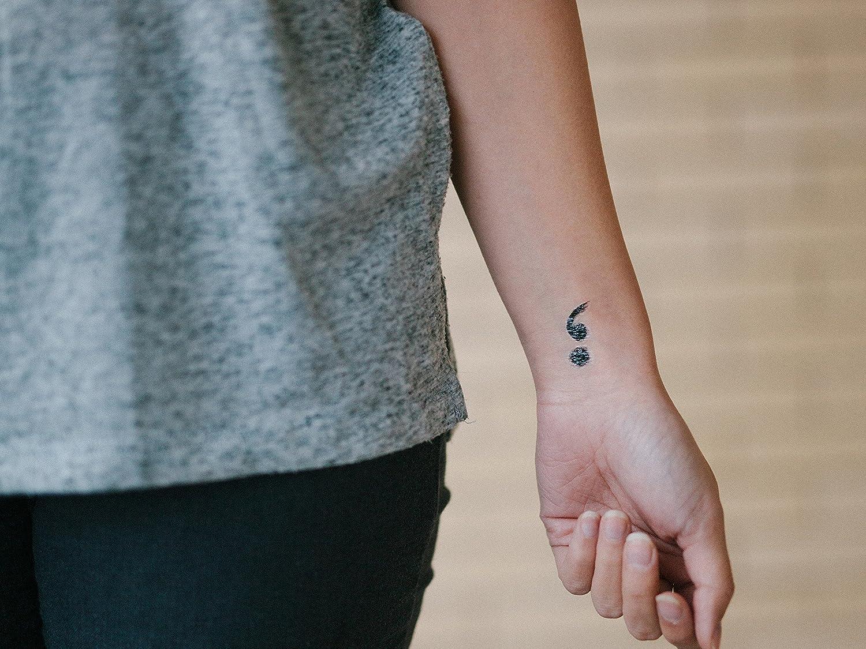 Amazon Com Semicolon Temporary Tattoo Semicolon Tattoo Set Of 2