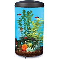 Koller Products AquaView 6-Gallon 360 Fish Tank with Power Filter and LED Lighting