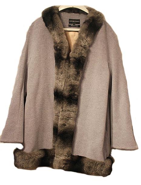 Antonio fusco Milano, abrigo de invierno gaban con pelo auténtico (Deutsche tamaño 38)