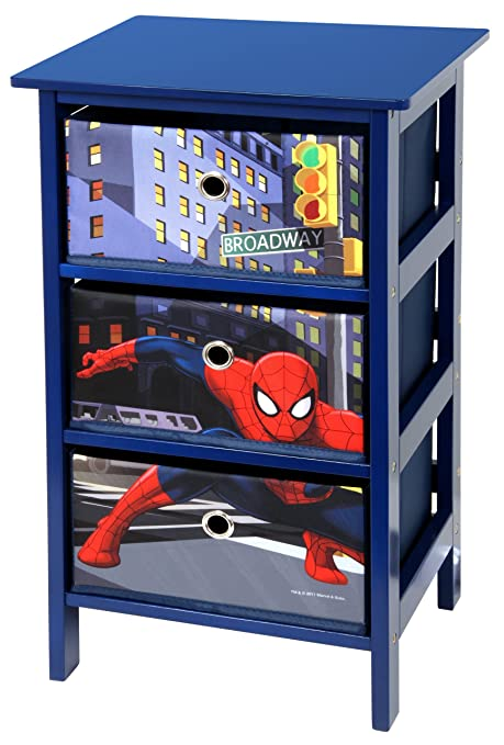 Marvelous Spiderman 3 Drawer Blue Bedroom Storage Unit By Marvel *EXCLUSIVE*:  Amazon.co.uk: Kitchen U0026 Home