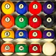 Pool Table Billiard Ball Set, Antique Style