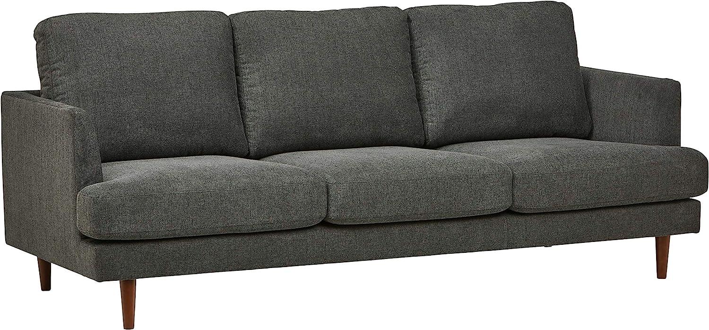"Rivet Goodwin Modern Sofa, 88.6""W, Charcoal Grey"