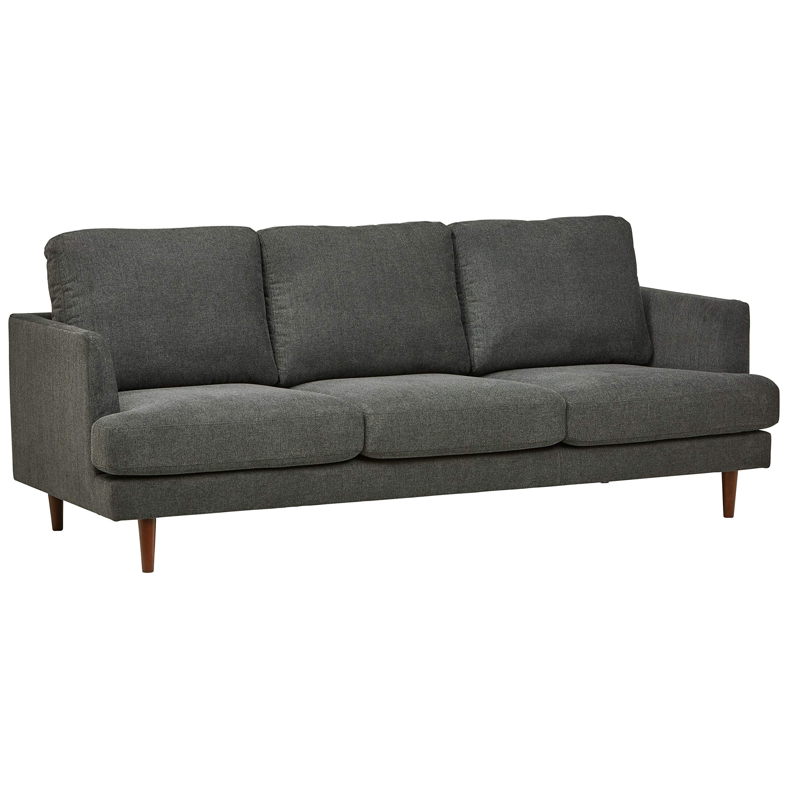 Rivet Goodwin Modern Sofa, 88.6''W, Charcoal Grey by Rivet