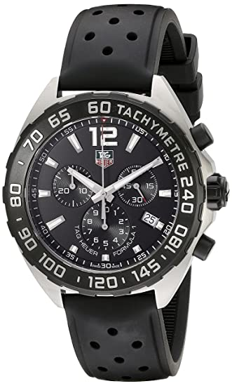 TAG Heuer cronógrafo de cuarzo negro modelo Formula 1 CAZ1110.FT8023: Amazon.es: Relojes