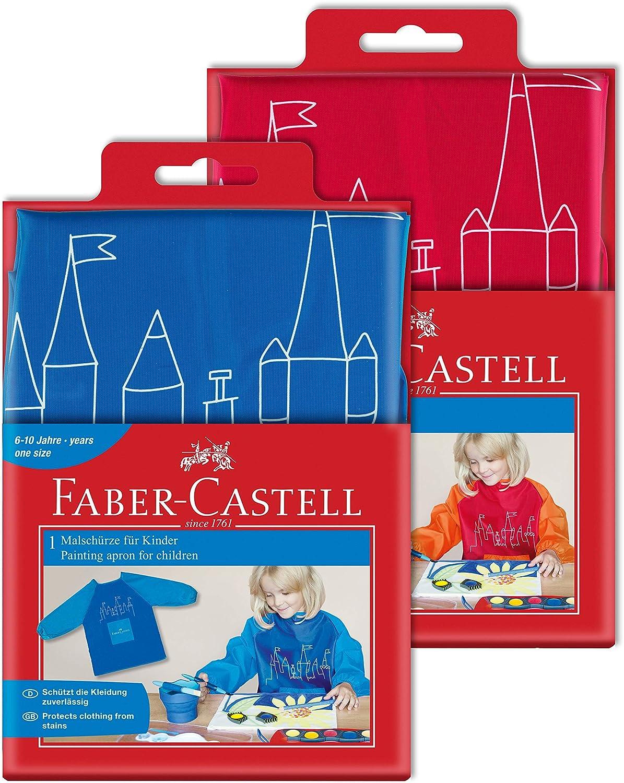 Faber-Castell Kinder-Malschürze , Blau, 1 Schürze 1 Schürze 201203