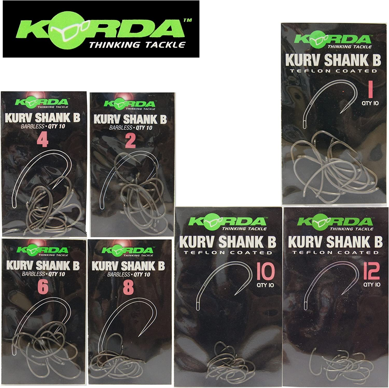 Korda Kurv Shank Hooks Size 8