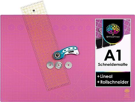 OfficeTree Schneidematte A1 pink 60x90 cm Schneideunterlage selbstheilend