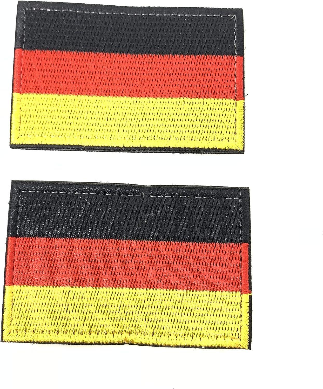 2 Parches Velcro x Bandera de Alemania Alemán Emblema nacional Bandera Táctico bandera con velcro podría ser pegado a la ropa, chaleco, gorra, mochila Directamente: Amazon.es: Hogar