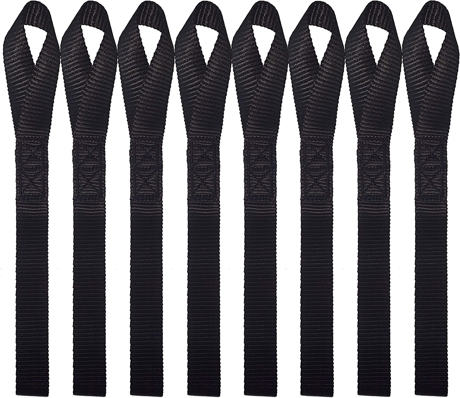 "8 Pack 1/"" x 12/"" for securing ATV Black Scooters /& Dirt Bike UTV Majestic Ally Soft Loop Tie Down Straps Lawn /& Garden Equipment Snow Mobile Motorcycles"