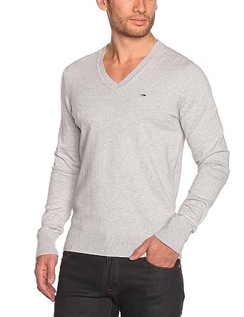 Tommy Jeans Herren Timber Langarm Regular Fit Pullover Grau (038 Light Grey  Heather) 46 (S)  Amazon.de  Bekleidung 8c647b49ec