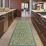 "Diagona Designs ANN1096-2X5 Area Rug, 1'10"" x 4'11"", Mahal Teal"