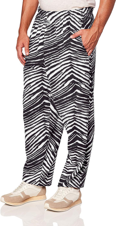 Zubaz Officially Licensed Men's Zebra Print Lounge Pants, Team Color