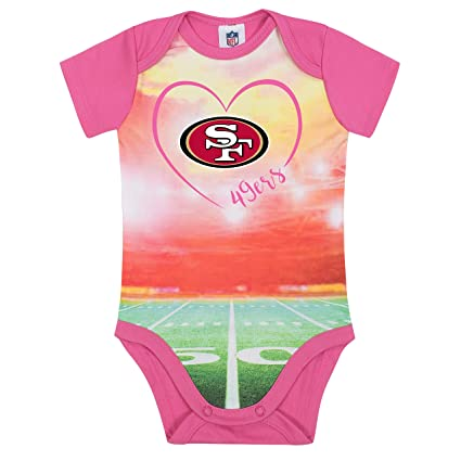 Image Unavailable. Image not available for. Color  NFL San Francisco 49Ers  Baby-Girls Short-Sleeve Bodysuit ... 77b564496