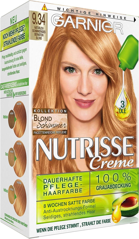 Garnier nutrisse Crema coloration Natural brillante ámbar ...