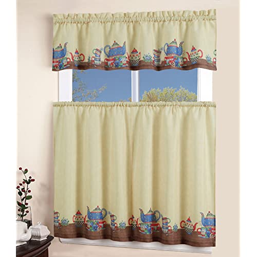 Printed Kitchen Curtains Amazon Com