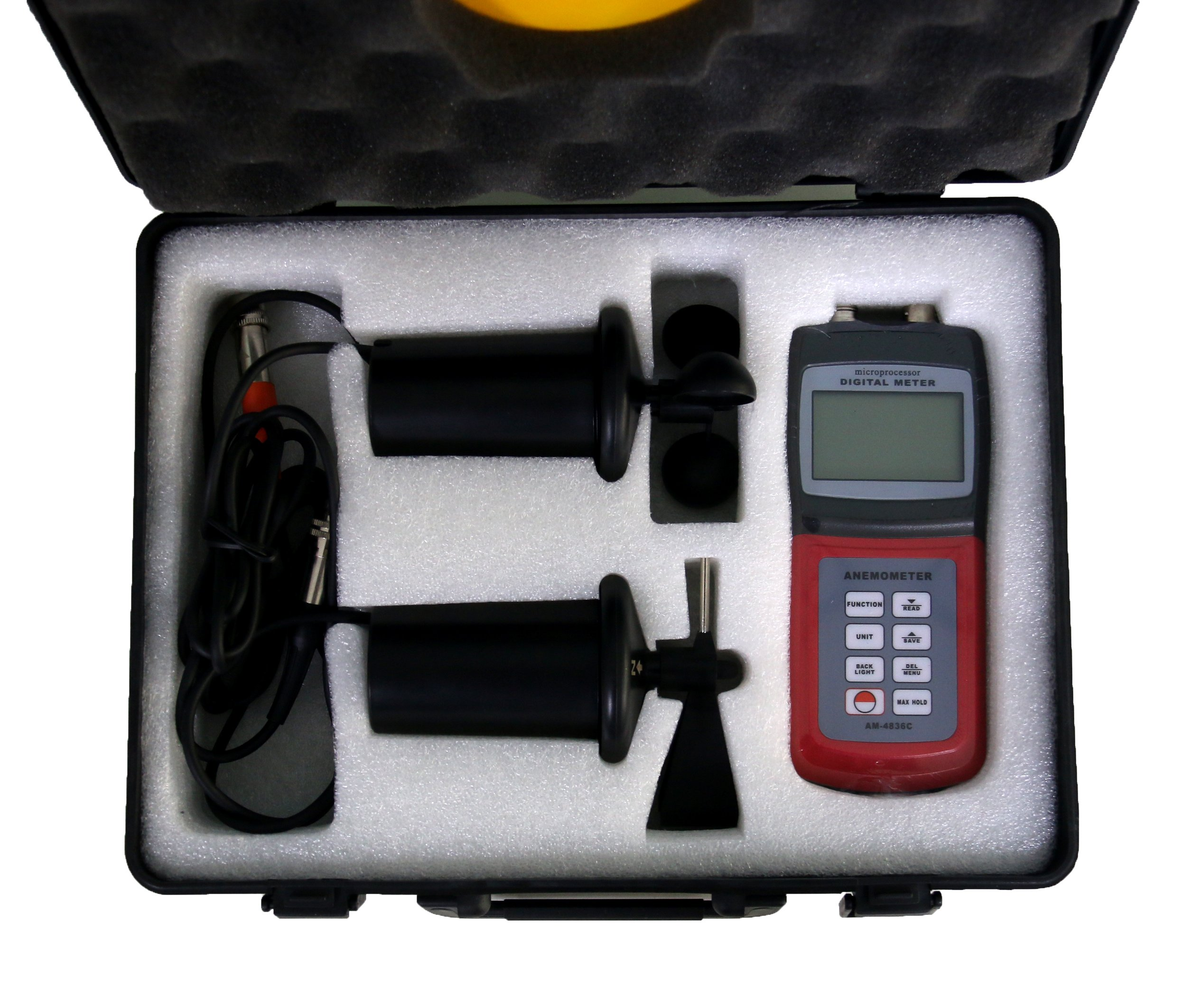 BYQTEC AM-4836C Digital Multifunction Anemometer Wind Speed Meter for Measuring Air Velocity Flow, Temperature, Direction and Wind Speed by BYQTEC (Image #8)