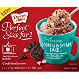 Duncan Hines Perfect Size for 1 Mug Cake Mix, Ready in About a Minute, Cookies & Cream Cake, 4 individual pouches