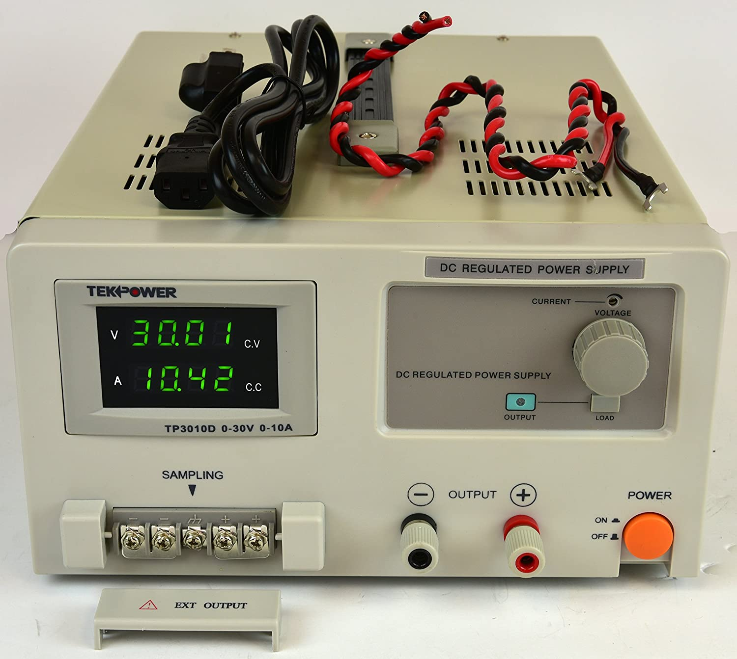 TekPower TP3010D DC Adjustable Linear Power Supply Better than TP3010E HY3010E 30Volt//10A 30V at 10A Lab Grade Transformer Type Clean Power Source