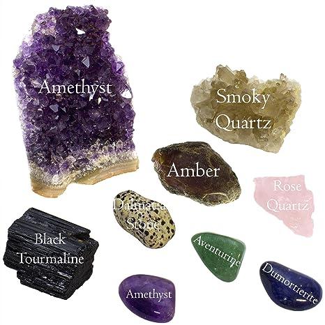 Palm Tumbled Stone Dream Amethyst Quartz Crystal Healing Smooth Soap Shape