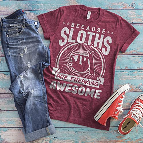 TSHIRTAMAZING Just A Girl Who Loves Sloths with Sloth Picture T-Shirt