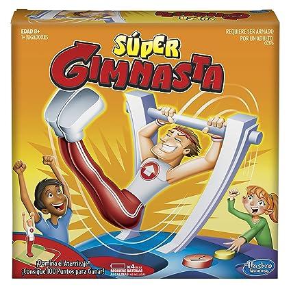 Hasbro Gaming Juego De Mesa Super Gimnasta Amazon Com Mx Juegos Y
