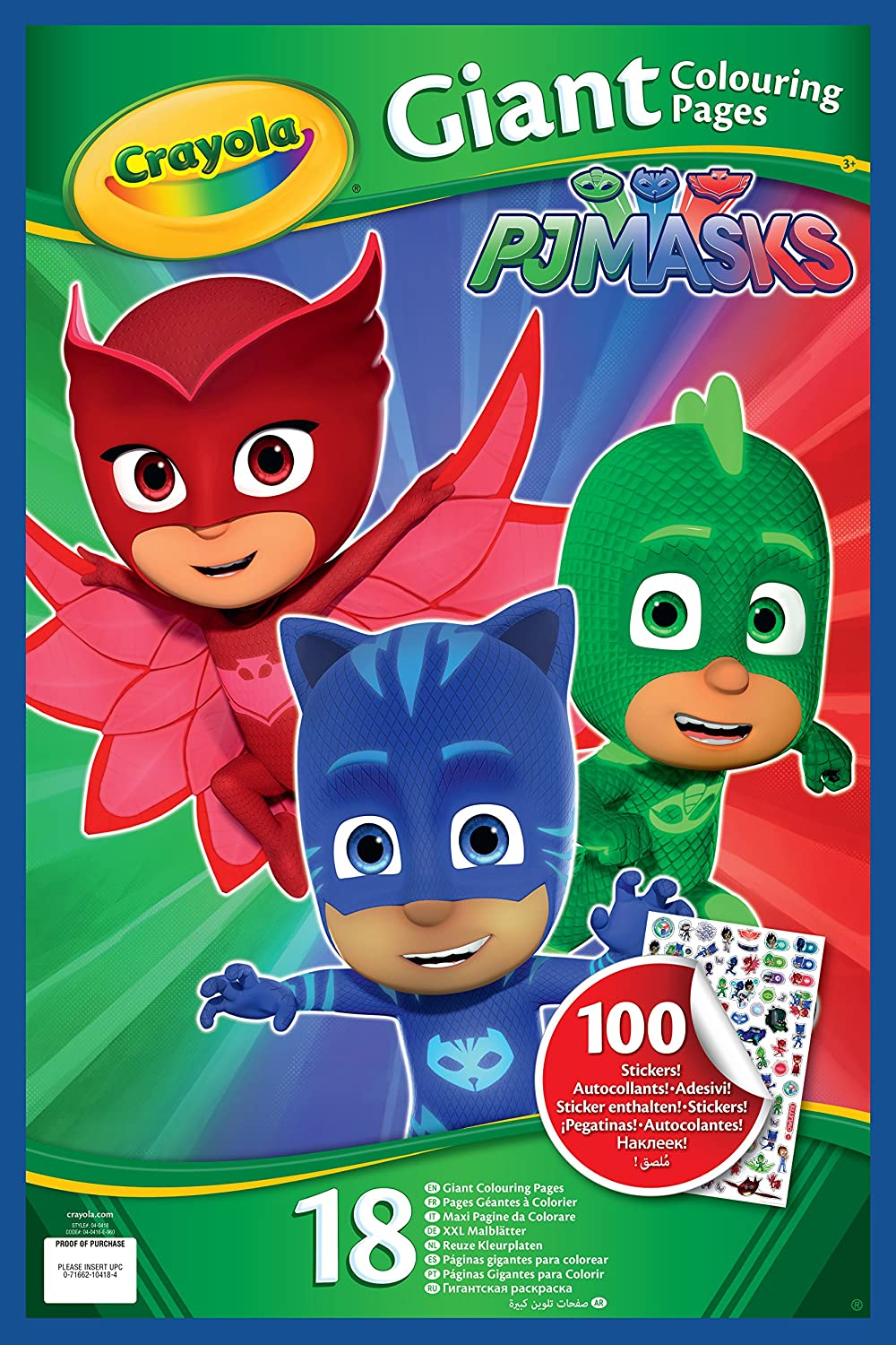 Crayola Giant Colouring Book With Stickers Pj Masks Pages 04 0418