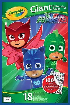 Crayola PJ Masks páginas Meatballs de para colorear con pegatinas, 04 – 0418-e