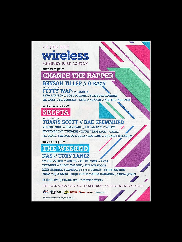 Chance The Rapper Skepta The Weeknd - Wireless Fest London 2017 Mini