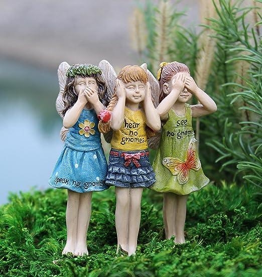 Miniatura Jardín de hadas no gnomos Trio: Amazon.es: Hogar