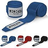 Boxbandagen von Moncada Fighting in 4m Länge - Mit extra breitem Klettverschluss und Daumenschlaufe