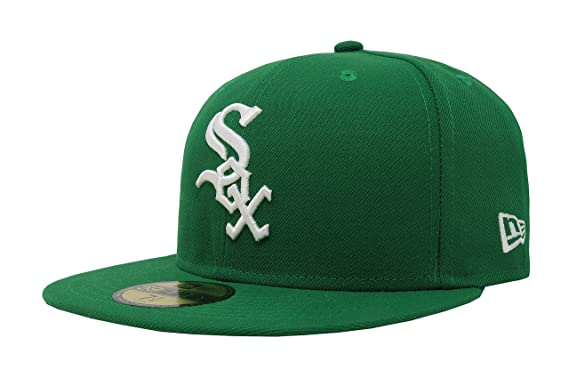 37909a2d9 headwear Hat White Sox Green Fitted Cap at Amazon Men's Clothing store: