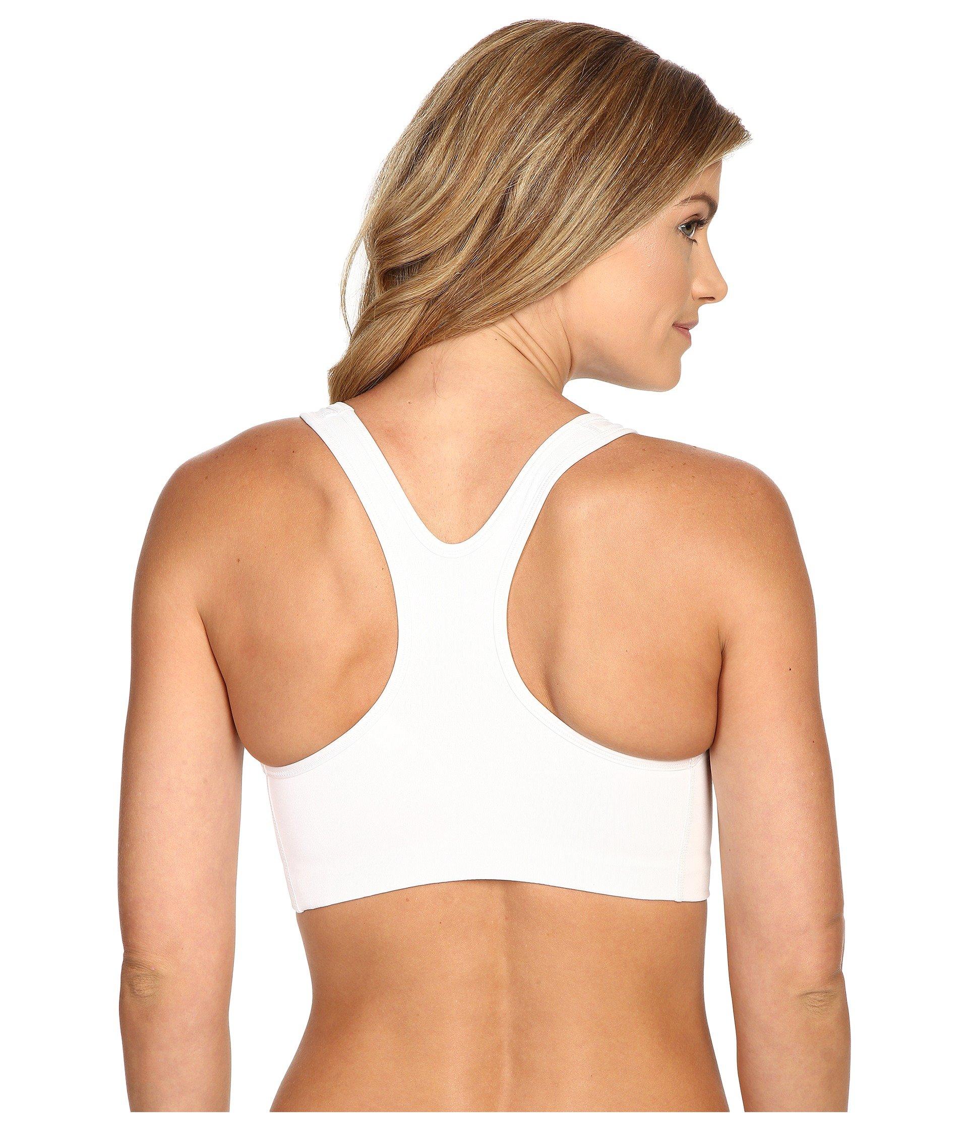 NIKE Women's Swoosh Sports Bra, White/Black, X-Small by Nike (Image #3)