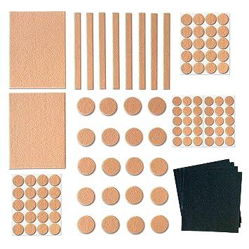 Möbel Pads Für Hartholz Böden Pack Selbstklebend Größen Von - Schleifpapier für fliesen