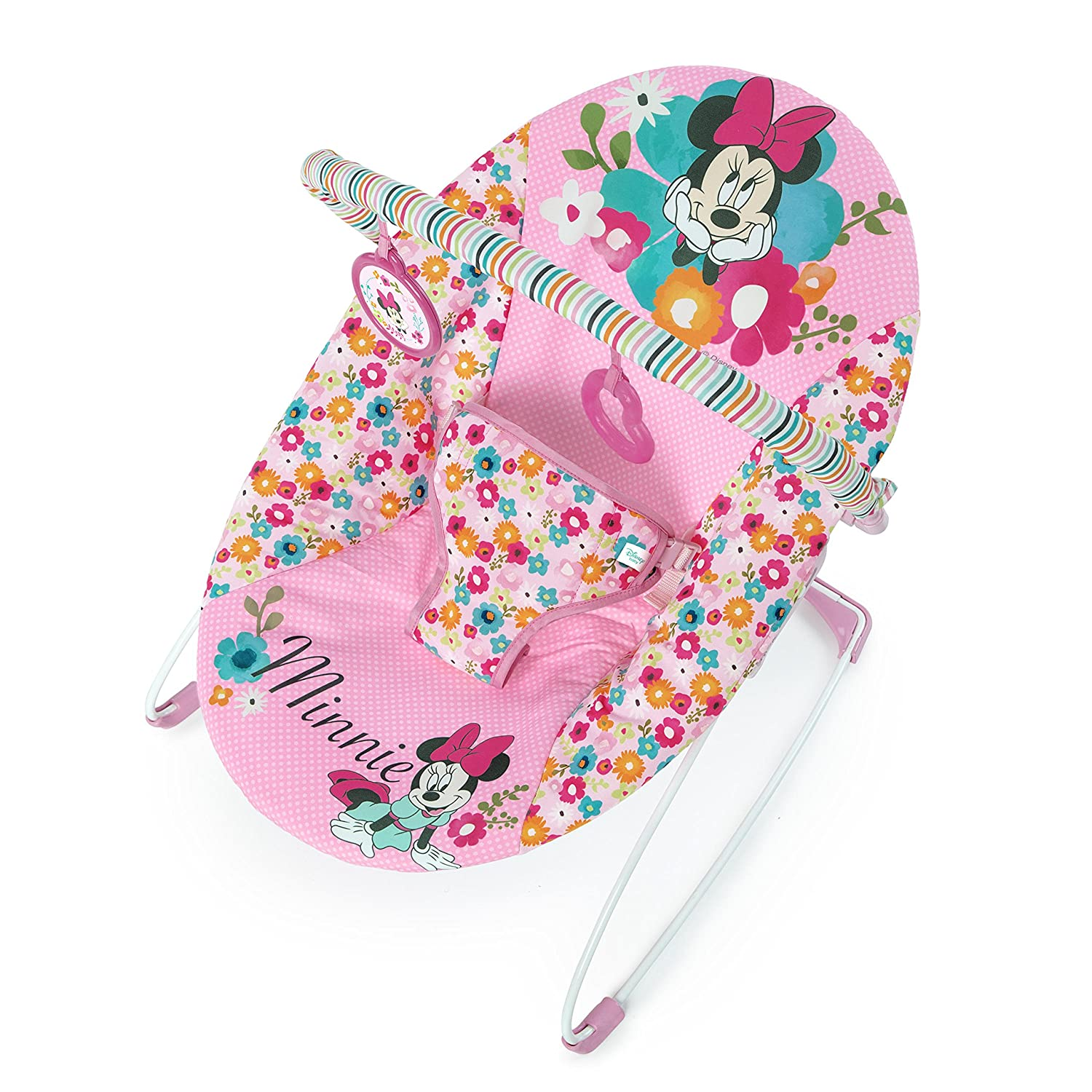 Disney Baby Minnie Mouse Perfect Vibrating Bouncer, Pink Kids II - (Carson CA) 11509-4-W11