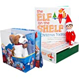 Elf on the Shelf Pet Set - St. Bernard Plush with Blue Eyed Elf Boy - In Box Direct From North Pole