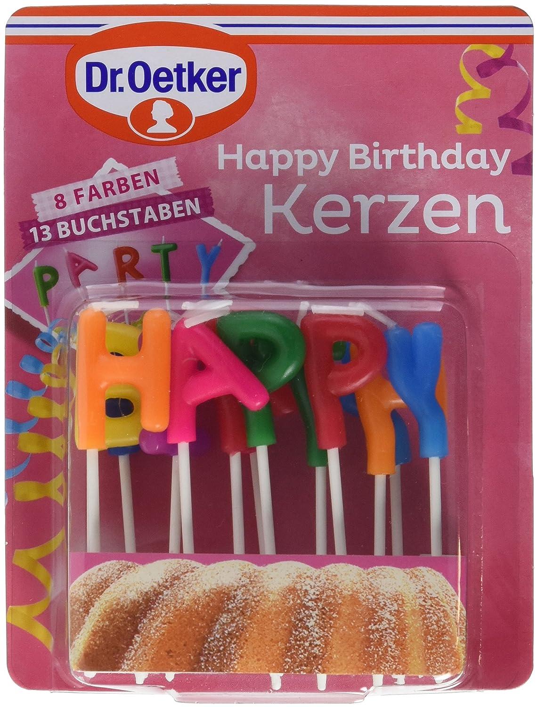 Dr. Oetker Kerzen HAPPY BIRTHDAY, 5er Pack (5 x 20 g) 1-01-526000 Dr. Oetker Happy Birthday Kerzen