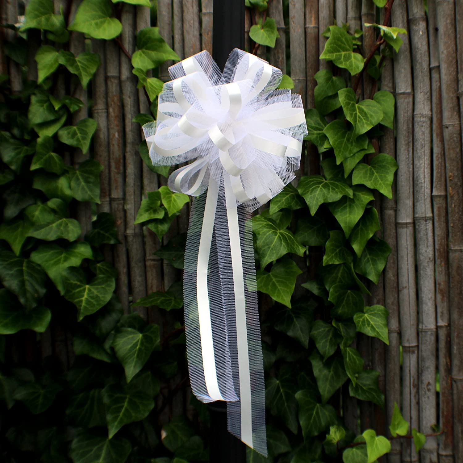 Amazon White Tulle Wedding Pull Bows For Church Pews 9 Wide