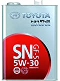 TOYOTA エンジンオイル キヤッスル SN/GF-5 5W-30鉱物油 4L [HTRC3]