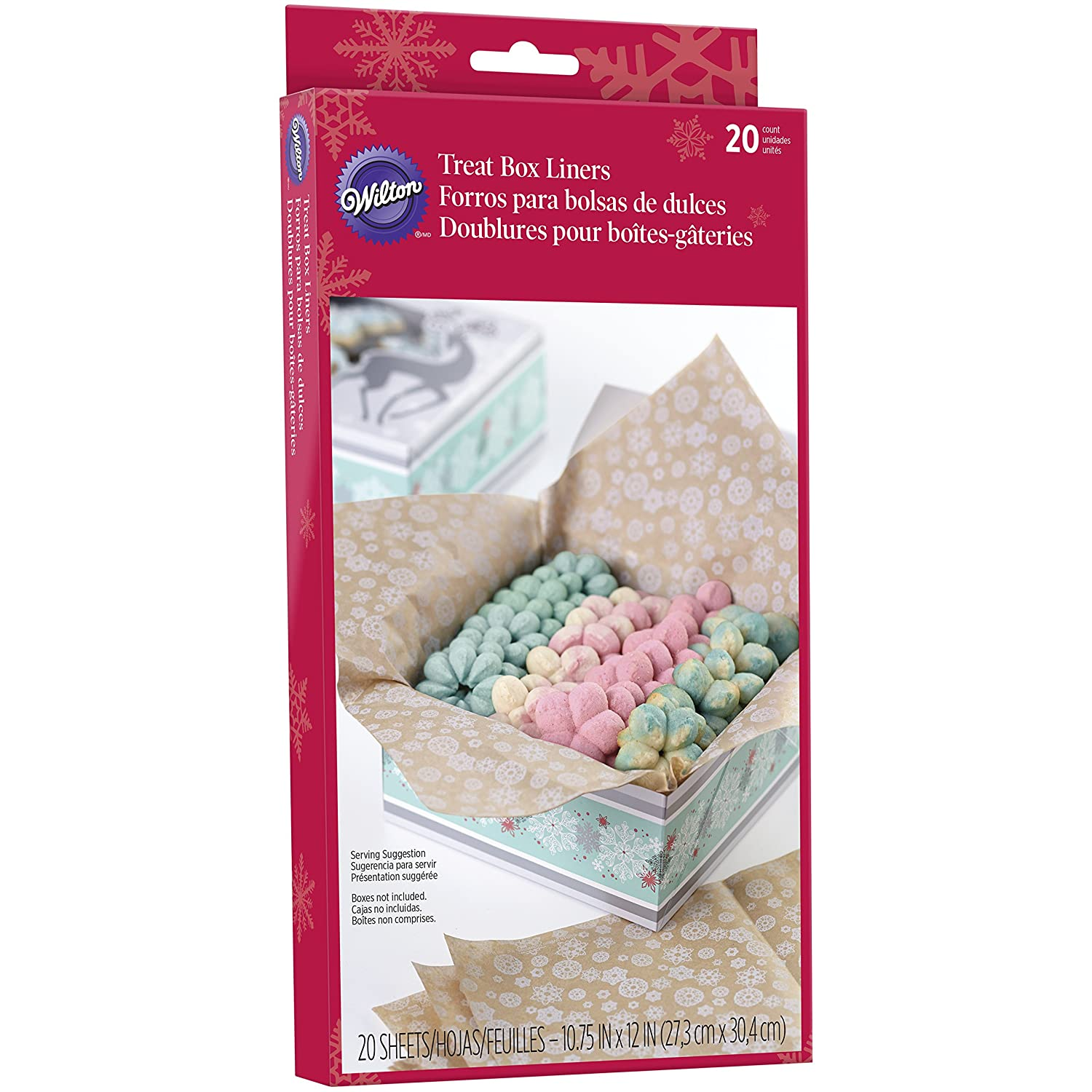 Amazon.com: Wilton Christmas Treat Box Liners, 20-Count: Kitchen & Dining
